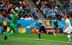 Suarez breaks English hearts.