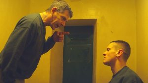 Ben Mendelsohn and Jack O'Connell in Starred Up